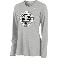 Awestruck 09: Nike Women's Legend Long-Sleeve Training Top - Gray