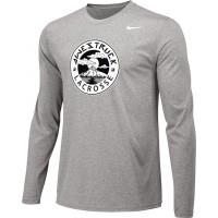 Awestruck 07: Adult-Size - Nike Team Legend Long-Sleeve Crew T-Shirt - Gray