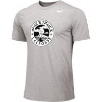 Awestruck 01: Adult-Size - Nike Team Legend Short-Sleeve Crew T-Shirt - Gray
